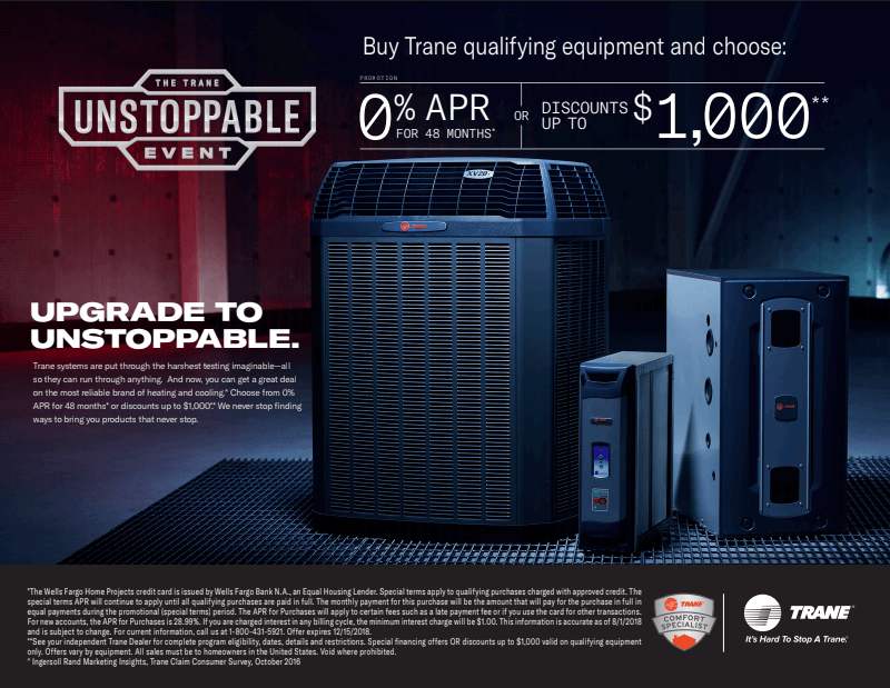 Area Heating & Cooling, Inc. Trane Unstoppable Event 2018